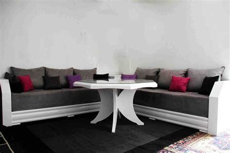 salon marocain moderne rouge sedari inspirations  idee