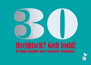 30 Dinge Zum 30 Geburtstag : gl ckwunschkarte 30 geburtstag mainspatzen ~ Markanthonyermac.com Haus und Dekorationen