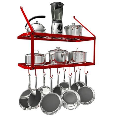 Hanging Pot Shelf by Vdomus Pots And Pans Rack Wall Mounted Hanging Pot Shelf