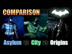 Batman: Arkham Origins VS Arkham City VS Arkham Asylum ...