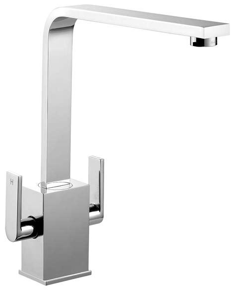 designer kitchen taps uk rangemaster quadrant contemporary monobloc dual lever 6641