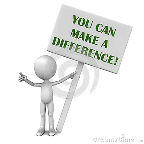 You Can Make A Difference Stock Photo  Image 29361610