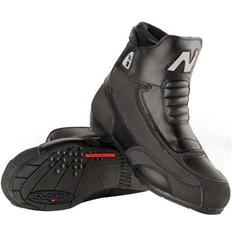 short motorbike boots nitro nb 31 short leather cruiser street motorbike