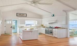 White Cottage Kitchen Cabinets Small Beach Cottage Kitchen