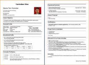 resume format for bca freshers it resume cover letter sle