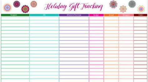 buying gifts tracker sheet gift tracking spreadsheet