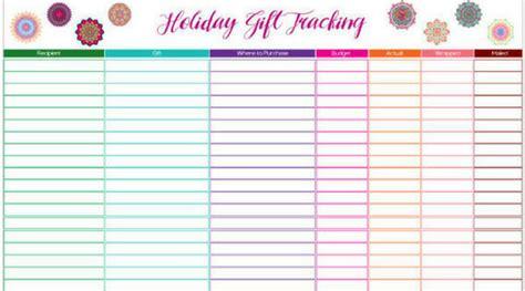 buying gifts tracker sheet gift tracking spreadsheet