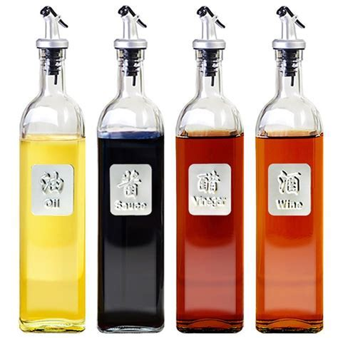 Glass Storage Bottles for Oil and Vinegar Cooking