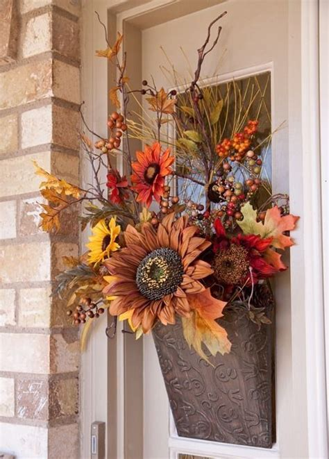 silk flower door decoration  fall pictures