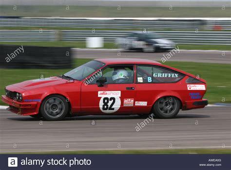 alfa romeo gtv  race car stock photo royalty  image