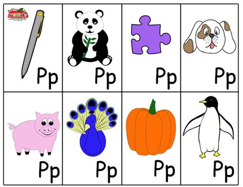 letter p words and pictures printable cards porcupine preschool alphabet flash cards abc animals flash cards 62804