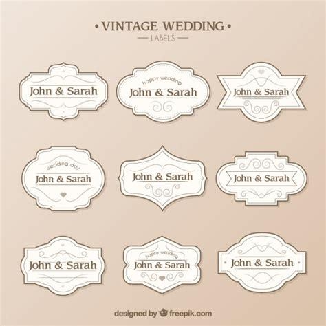 plantilla de etiquetas  boda descargar vectores gratis
