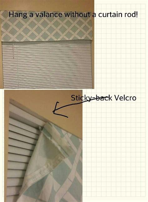 hang  valance   curtain rod  adhesive velcro