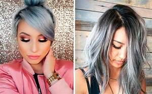Grau Silber Haare : winter trend haare in silber grau hair pinterest graue haare silbergraue haare und ~ Frokenaadalensverden.com Haus und Dekorationen