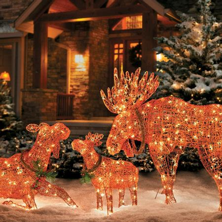 christmas moose decorations lighted billingsblessingbagsorg