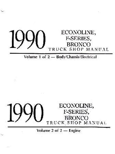car repair manual download 1990 ford f series engine control 1990 ford truck bronco f series econoline shop manual volumes a b