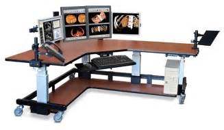 stand up corner computer table with accessories