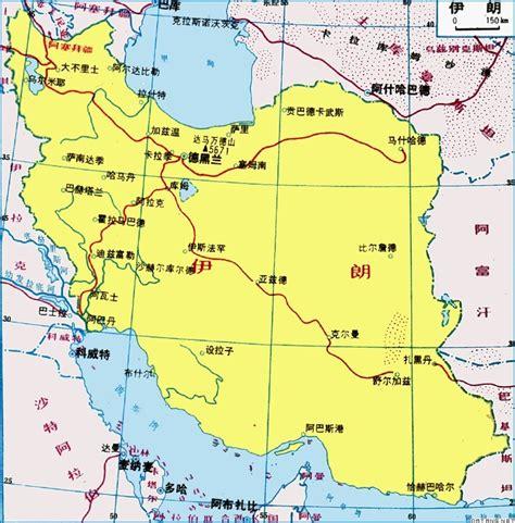 伊朗地图_伊朗地图中文版_伊朗卫星地图
