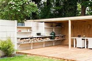 95 idees pour la cloture de jardin palissade mur et With awesome photo cuisine exterieure jardin 5 abris exterieurs abris de jardin abris bois atelier