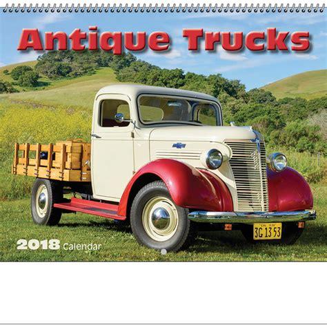 """2018 Antique Truck Spiral Calendar  1012"""" X 1814"""