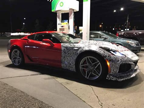Chevrolet Car : The Chevy Corvette Zr1 Spotted With Less Camo; Proves