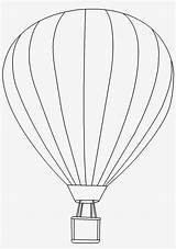 Balloon Air Outline Coloring Clipart Valuable Seekpng sketch template