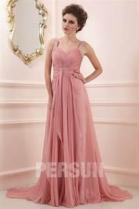robe de ceremonie longue vieux rose avec bretelles With robe de ceremonie longue rose