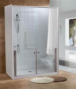 douche securisee opaline avec portes coulissantes toute With porte de douche coulissante avec soufflant electrique salle de bain