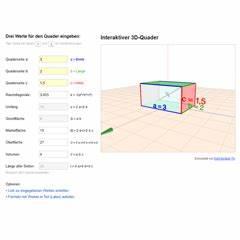 Quader Oberfläche Berechnen : lektion ste03 quader matheretter ~ Themetempest.com Abrechnung