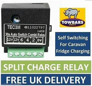 Self Switching Smart Relay For 12s    13 Pin Towbar Wiring Charging Fridge Tec3m