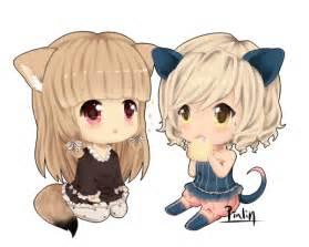 Anime Chibi Girls Best Friends