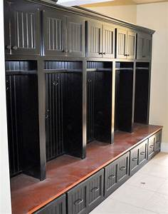 Black Custom Mudroom Storage Unit