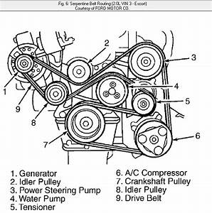 2002 Mercury Sable Serpentine Belt Diagram