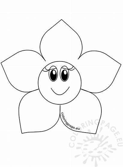 Flower Cartoon Head Template Coloring Flowers
