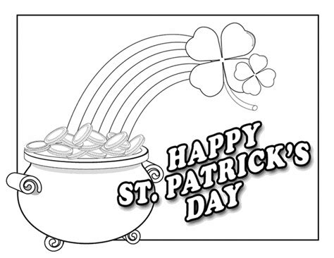Free St Patricks Day Coloring Pages Printable