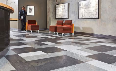 tarkett brings natural organic visuals to rubber flooring