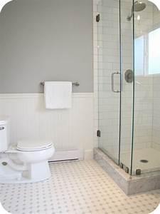 White, Tile, Floor, Bathroom, 2017