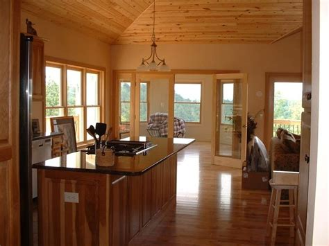 rustic ash floor knotty pine ceiling home decor