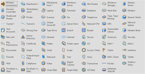 Office Desk Visio Stencils by Even More Free Visio Network Stencils