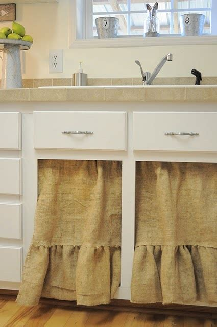 Burlap Utility Sink Skirt by Sink Curtains My Home
