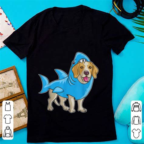 hot beagle shark funny dog suit puppy great white gift