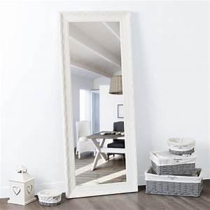 Miroir Maison Du Monde Industriel : miroir en paulownia blanc h 145 cm valentine maisons du monde ~ Teatrodelosmanantiales.com Idées de Décoration