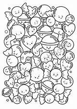 Coloring Candy Printable Adult Kid sketch template
