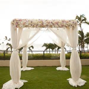 wedding arches for rent chiffon ceremony arch joanna tano photography