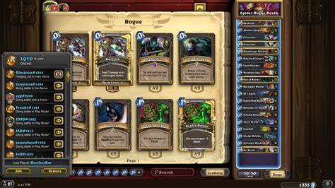 Hearthstone Deathrattle Deck Standard by Spider Deathrattle Rogue Hearthstone Decks