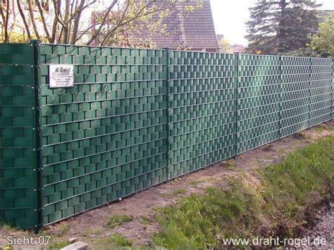 Zäune Mit Sichtschutz by 187 Sichtschutz Z 228 Une Draht Rogel