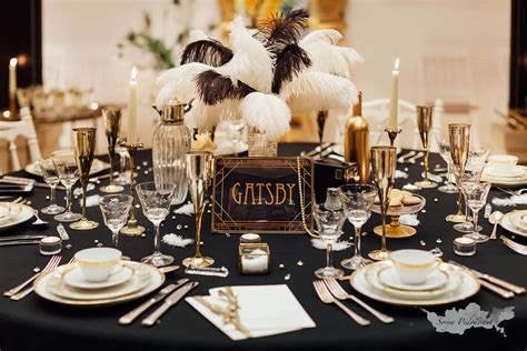 decoration table mariage gatsby