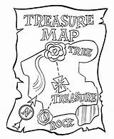 Coloring Pirate Treasure Map Printable Maps Chest Adult Sheets Theme sketch template