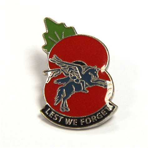 pegasus poppy lapel badge   forget  airborne shop