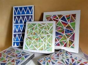 Chromatic geometric wall art bigdiyideas